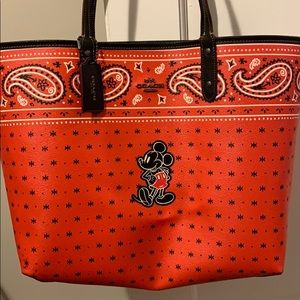 Mickey Mouse coach reversible tote!